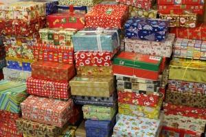 Fertig gepackte Geschenke
