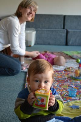 Mutter und Kinder bei Müttercafé Auszeit